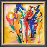 Jazz Explosion I Print by Alfred Gockel