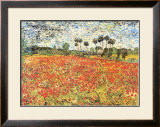 Field of Poppies, Auvers-Sur-Oise, c.1890 Poster by Vincent van Gogh