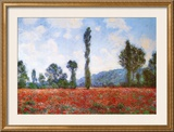 Field of Poppies Posters by Claude Monet