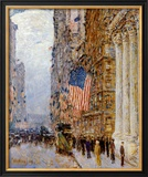 Flags on the Waldorf Prints by Childe Hassam