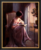 Young Woman Reading by a Window Art by Delphin Enjolras