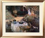 The Luncheon: Monet's Garden at Argenteuil Poster by Claude Monet