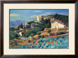 Riviera Hillside Posters by William Glackens