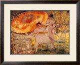 The Garden Parasol, 1909 Art by Frederick Carl Frieseke
