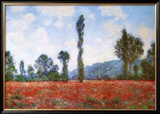 Field of Poppies Print by Claude Monet