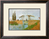 The Langlois Drawbridge Poster by Vincent van Gogh