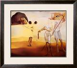 Enchanted Beach with Three Fluid Graces Poster by Salvador Dalí