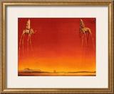 Os elefantes, cerca de 1948 Pôsteres por Salvador Dalí