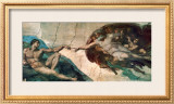 Creation of Adam Print by  Michelangelo Buonarroti