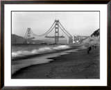 Golden Gate Bridge under Construction, From Baker Beach, c.1936 Framed Giclee Print