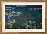 Nenúfares: Reflejos verdes I Posters por Claude Monet