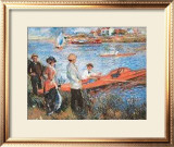 Oarsmen at Chateau, 1879 Print by Pierre-Auguste Renoir