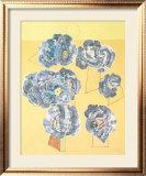 Fleurs sur Fond Jaune Poster by Max Ernst