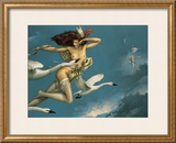 Night Flight Posters by Michael Parkes