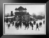 Ice Skating at Belle Isle, Detroit, Michigan Framed Giclee Print