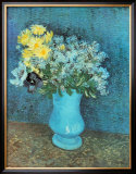 Vase of Lilacs, Daisies and Anemones, c.1887 Posters by Vincent van Gogh