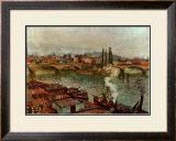 Stone Bridge Rouen Print by Camille Pissarro