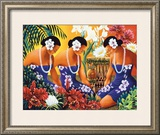 Silent Preparation Framed Giclee Print by Warren Rapozo