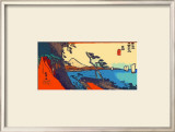 Yui: Path of Setta with Mount Fuji Framed Giclee Print by Hiroshige II 
