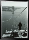 San Francisco, Golden Gate Bridge Construction Framed Giclee Print