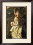Ophelia and He Will Not Come Again, 1863-64 Poster by Arthur Hughes
