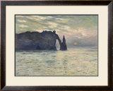 The Cliff, Etretat, Sunset, 1883 Prints by Claude Monet