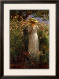 Summer's Day in the Flower Garden Print by Robert Payton Reid