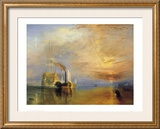 Fighting Temeraire Posters by William Turner
