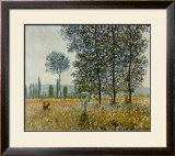Fields in Spring Poster by Claude Monet