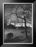 Winter at Night, New York, Central Park Framed Giclee Print
