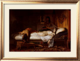 The Death of Cleopatra Print by Jean André Rixens