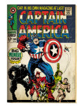 Marvel Comics Retro: Captain America Comic Book Cover 100, with Black Panther, Thor, Namor (aged) Posters