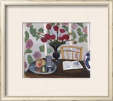 Still Life, Bouquet of Dahlias and White Book, 1923 Posters by Henri Matisse