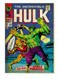 Marvel Comics Retro: The Incredible Hulk Comic Book Cover 103, with the Space Parasite (aged) Art