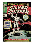 Marvel Comics Retro: Silver Surfer Comic Book Cover 1, Origin (aged) Poster