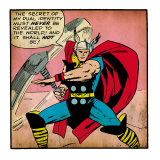 Marvel Comics Retro: Mighty Thor Comic Panel (aged) Prints