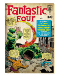 Marvel Comics Retro: Fantastic Four Family Comic Book Cover 1 (aged) Art