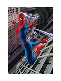 Spider-Man Swinging In the City Print