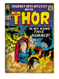 Marvel Comics Retro: The Mighty Thor Comic Book Cover No.120, Journey into Mystery (aged) Prints