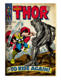 Marvel Comics Retro: The Mighty Thor Comic Book Cover 151 --To Rise Again! (aged) Prints