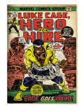 Marvel Comics Retro: Luke Cage, Hero for Hire Comic Book Cover 15, in Chains (aged) Prints