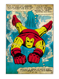 Marvel Comics Retro: The Invincible Iron Man Comic Panel, Swimming (aged) Posters
