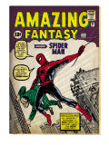 Marvel Comics Retro: Amazing Fantasy Comic Book Cover 15, Introducing Spider Man (aged) Prints
