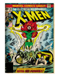 Marvel Comics Retro: The X-Men Comic Book Cover 101, Phoenix, Storm, Nightcrawler, Cyclops (aged) Print