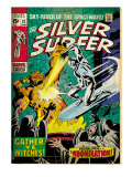 Marvel Comics Retro: Silver Surfer Comic Book Cover 12, Fighting the Abomination (aged) Prints