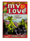 Marvel Comics Retro: My Love Comic Book Cover 14, Woodstock (aged) Poster