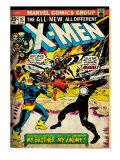 Marvel Comics Retro: The X-Men Comic Book Cover No.97, Havok, My Brother-My Enemy! (aged) Prints