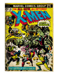 Marvel Comics Retro: The X-Men Comic Book Cover 96, Fighting the Night Demon (aged) Prints