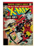 Marvel Comics Retro: The X-Men Comic Book Cover No.103 with Storm, Nightcrawler, Banshee(aged) Art