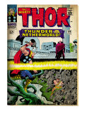 Marvel Comics Retro: The Mighty Thor Comic Book Cover No.130, Thunder in the Netherworld (aged) Art